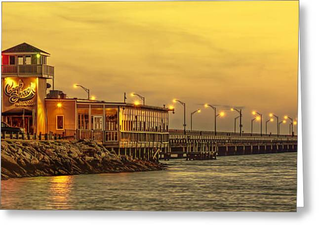 Crab Shack On The James In Amber Glow Greeting Card