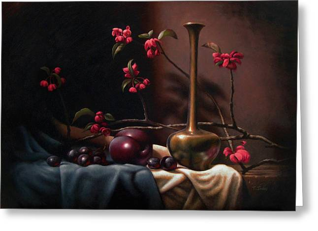 Crabapple Blossoms Greeting Card by Timothy Jones