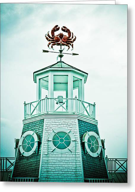 Crabby Weathervane Greeting Card by Marilyn Hunt