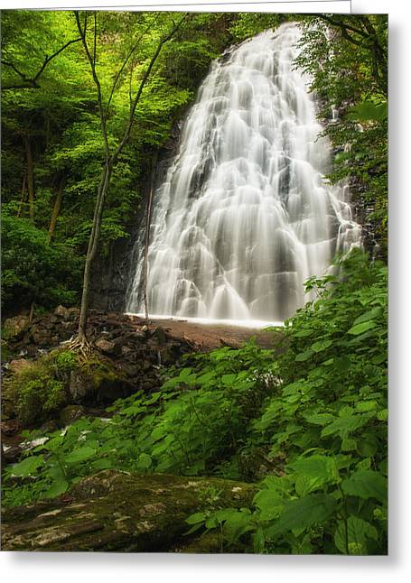 Crabtree Falls Greeting Card by Photography  By Sai