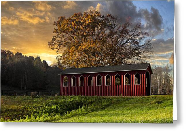 Crack Of Dawn Greeting Card by Debra and Dave Vanderlaan