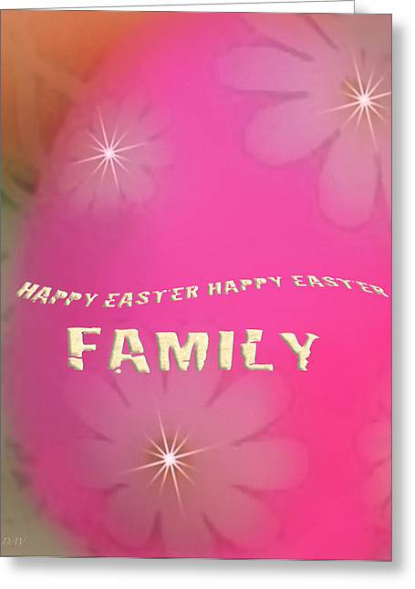 Cracked Happy Easter Greeting Card by Debra     Vatalaro