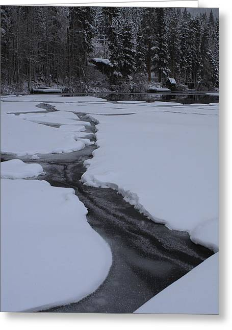 Cracked Ice  Greeting Card by Duncan Selby