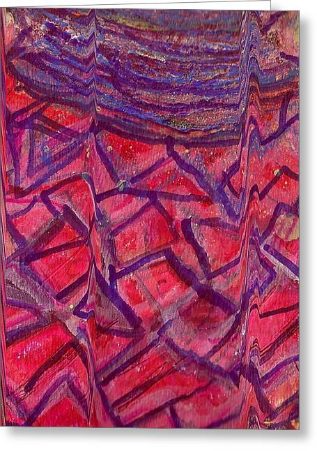 Cracked Jug Close Up Greeting Card by Anne-Elizabeth Whiteway