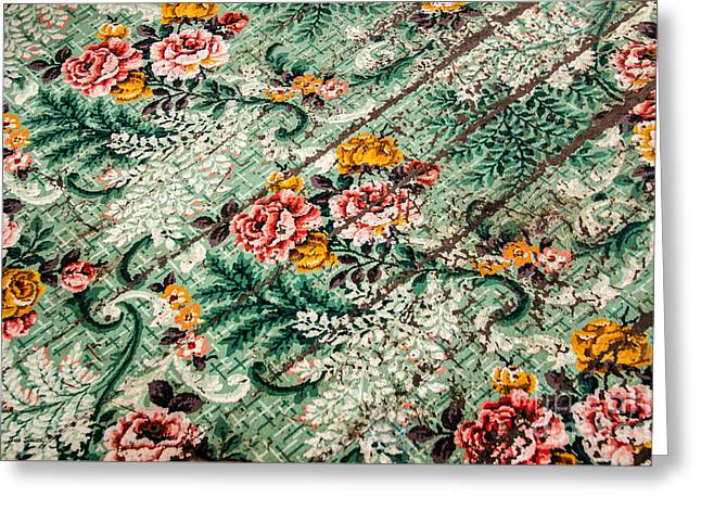 Cracked Linoleum Greeting Card by Sue Smith