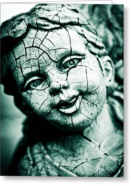 Cracked  Greeting Card by Off The Beaten Path Photography - Andrew Alexander