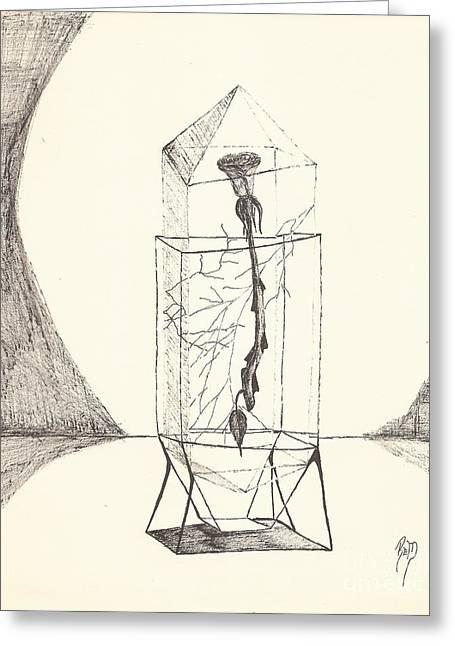 Cracked... Sketch Greeting Card by Robert Meszaros