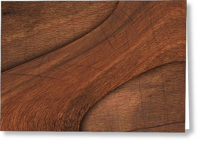 Cracked Wood Board  Greeting Card