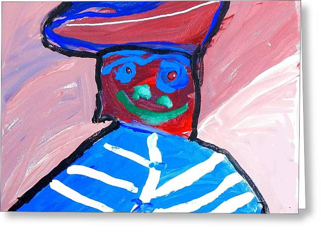 Cracker Jack Kid Greeting Card by Artists With Autism Inc