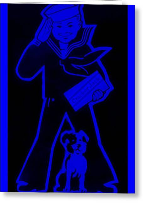 Crackerjack Blue Greeting Card