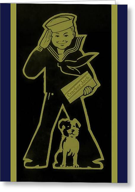Crackerjack Gold And Blue Greeting Card