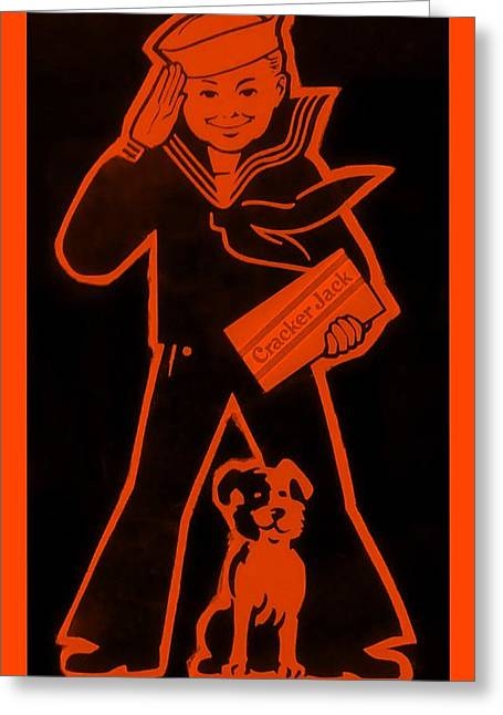 Crackerjack Orange Greeting Card