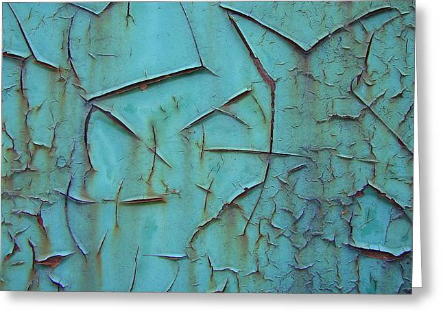 Crackled Rust Greeting Card