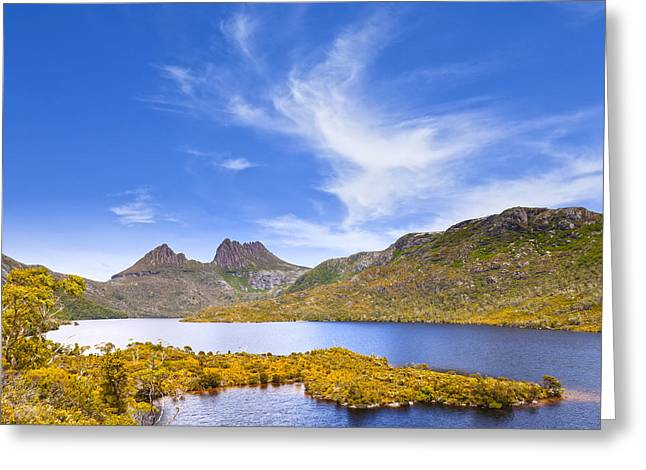 Cradle Mountain And Dove Lake Tasmania Greeting Card by Colin and Linda McKie