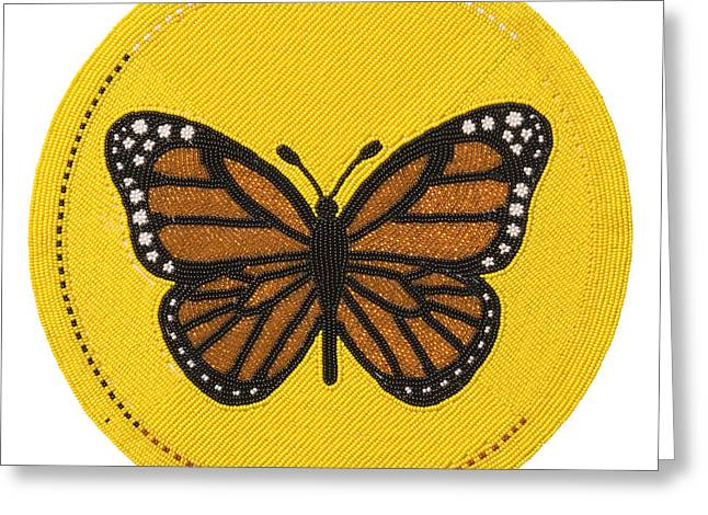 Cradleboard Beadwork Spring Butterfly Greeting Card