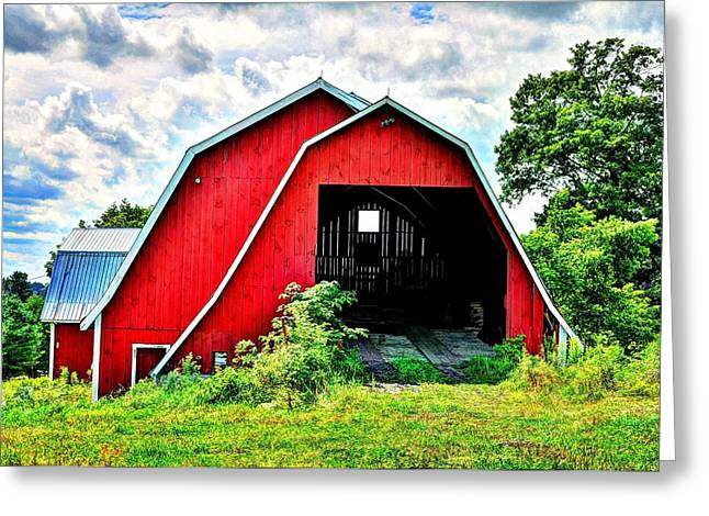 Craftsbury Barn Greeting Card by John Nielsen