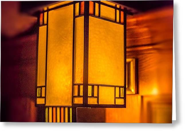 Craftsman Lamp Greeting Card