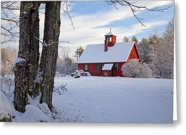 Greeting Card featuring the photograph Craftsman's Barn by Larry Landolfi