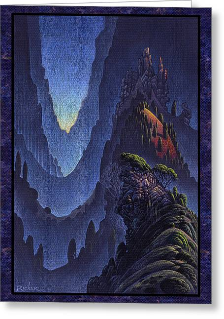 Craggy Fjord Greeting Card by Bruce Ricker