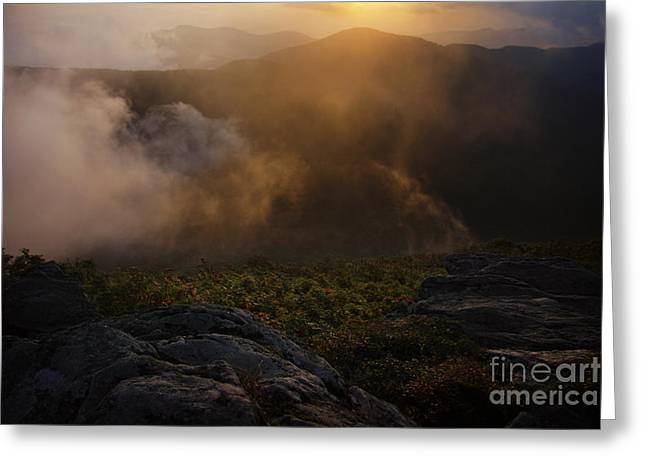 Craggy Garden Sunset Greeting Card by Jonathan Welch