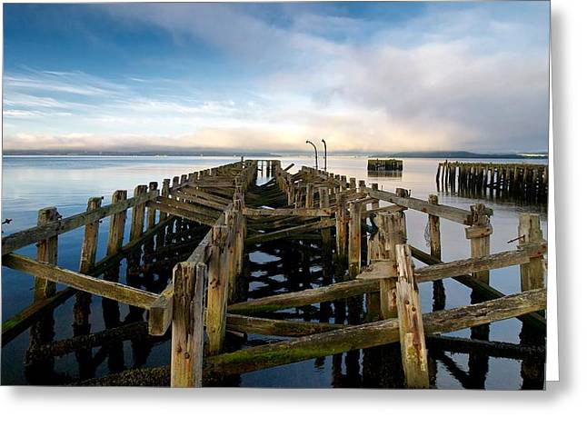 Greeting Card featuring the photograph Craigendoran Pier by Stephen Taylor
