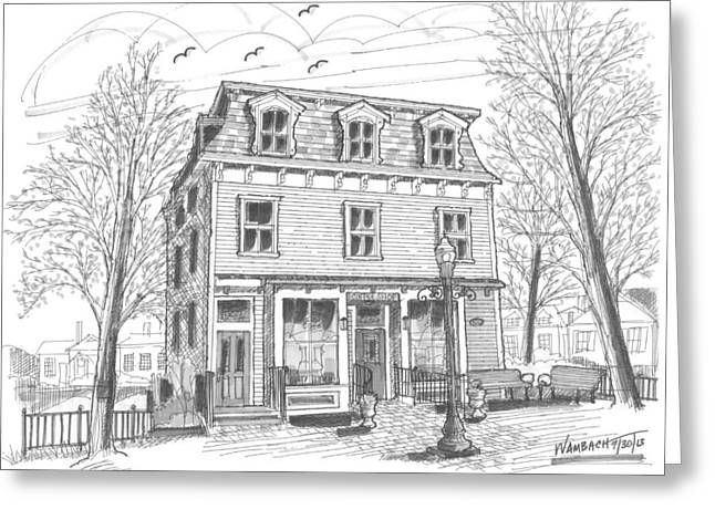 Cranberry's Cafe Circa 1884 Greeting Card
