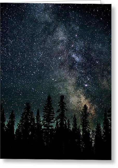 Greeting Card featuring the photograph Cranbrook Milkyway by Rob Tullis