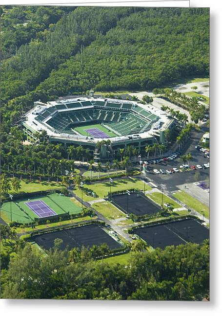 Crandon Park Tennis Center Greeting Card by Celso Diniz