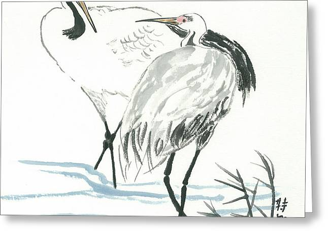 Crane Couple Greeting Card