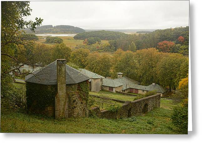 Crane Estate On A Misty Day Greeting Card