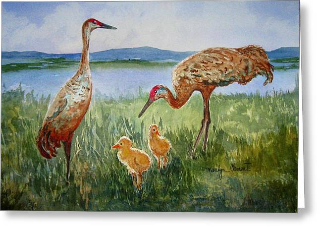 Crane Family Greeting Card