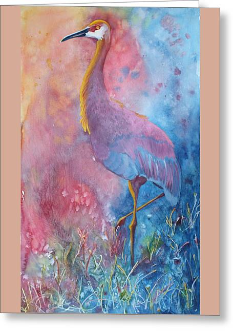 Crane Greeting Card by Nancy Jolley
