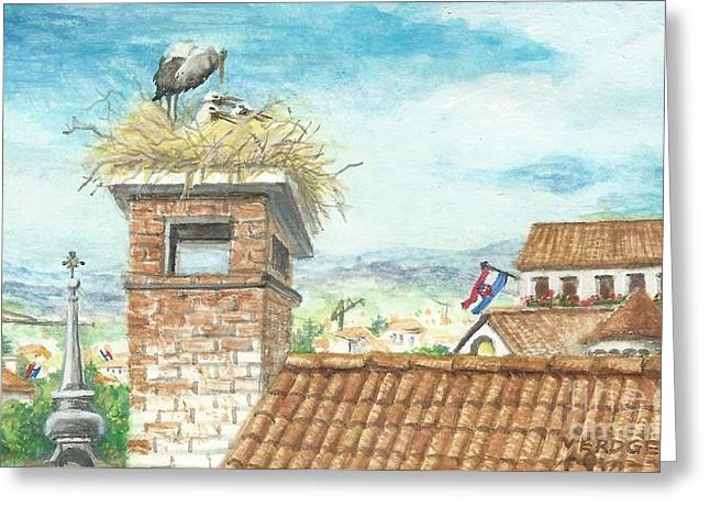 Cranes In Croatia Greeting Card