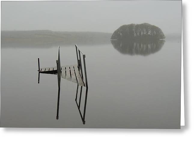 Crannog At Lake Knockalough Greeting Card