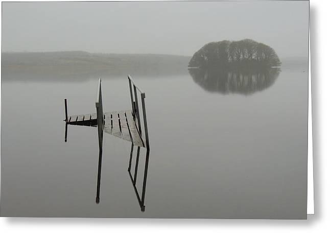 Crannog At Lake Knockalough Greeting Card