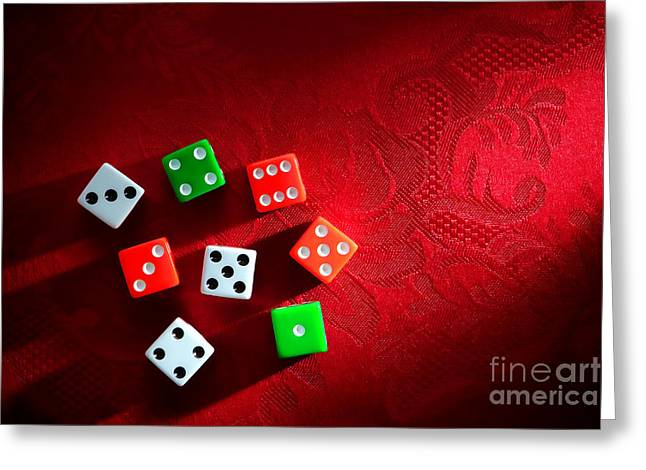 Craps Greeting Cards - Craps  Greeting Card by Olivier Le Queinec