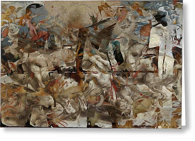 Crash Of Civilizations Greeting Card by M Hammami
