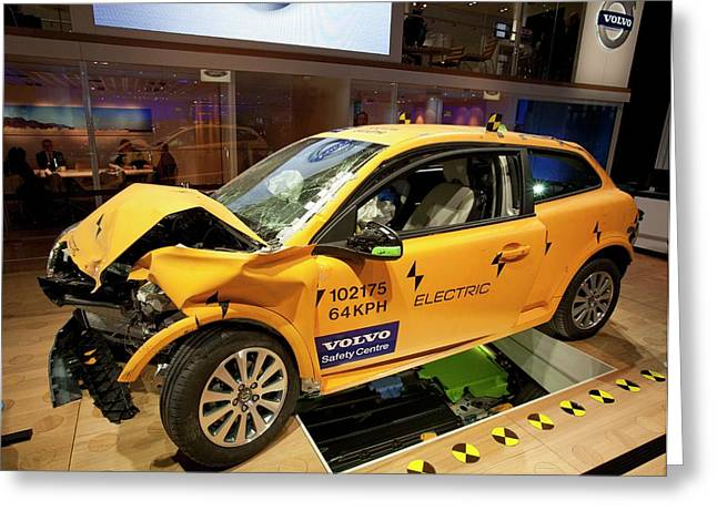 Crash-tested Volvo C30 Electric Car Greeting Card by Jim West