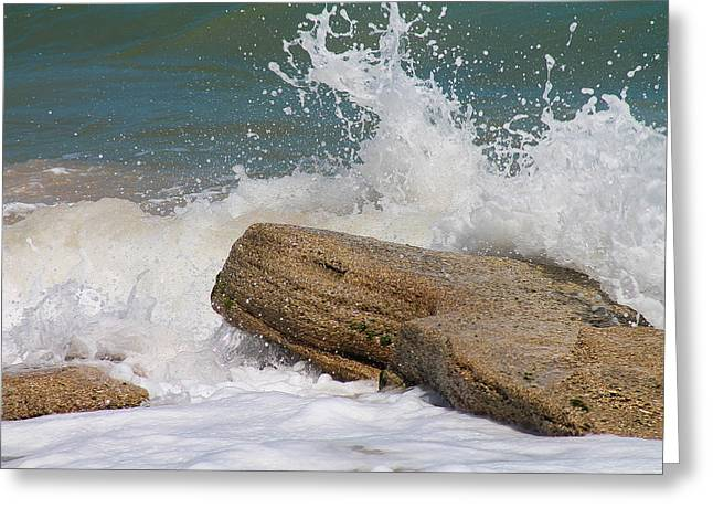 Crashing On Coquina Greeting Card