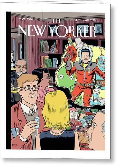 Crashing The Gate Greeting Card by Daniel Clowes