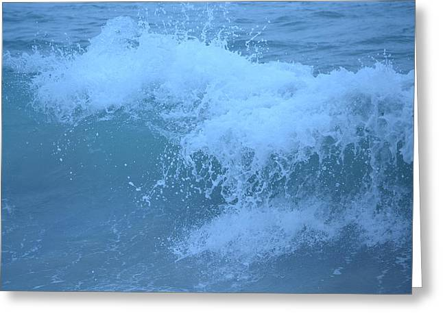 Crashing Wave Greeting Card by Kiros Berhane