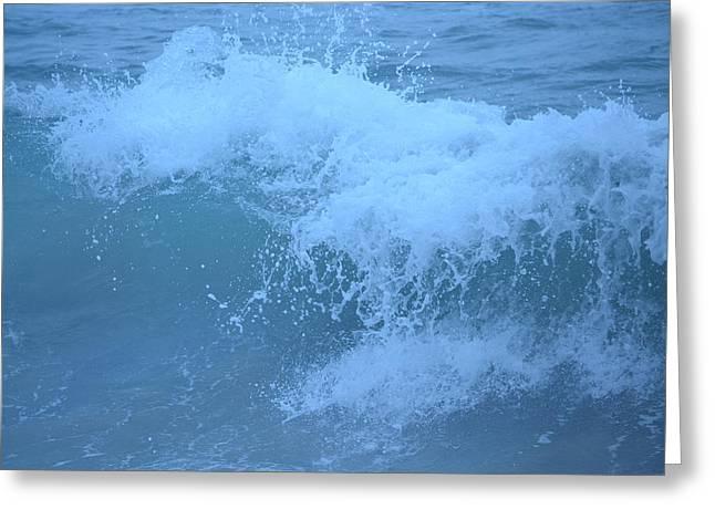 Crashing Wave Greeting Card by Kiros Berhane