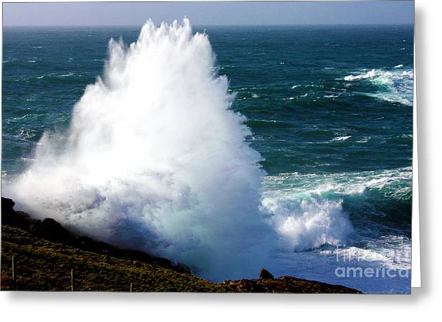 Crashing Wave Greeting Card by Terri Waters