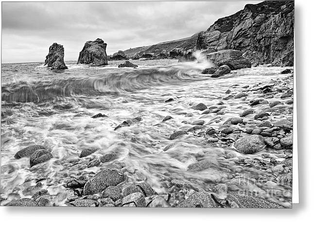 Crashing Waves From Soberanes Point In Garrapata State Park Greeting Card by Jamie Pham