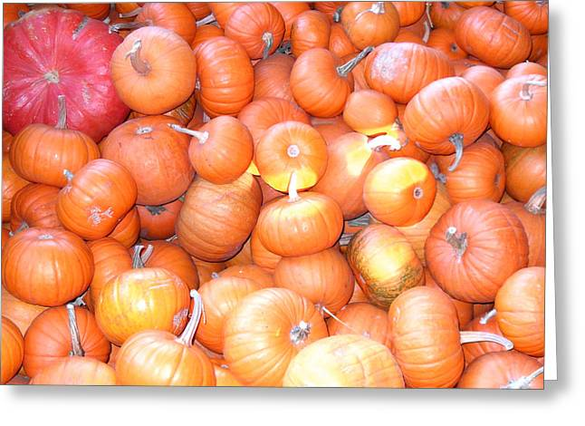 Crate Of Pumpkins Greeting Card