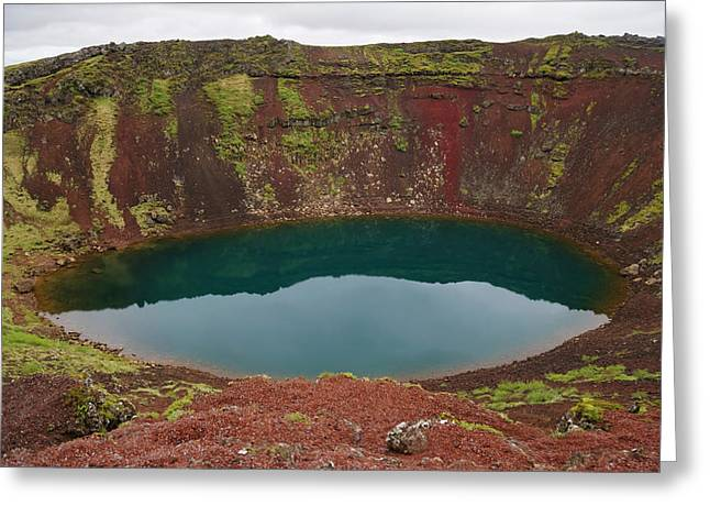 Crater Kerio, Crimsnes, Sudhurland Greeting Card