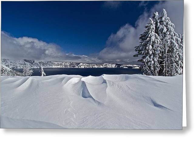 Greeting Card featuring the photograph Crater Lake 040913b by Todd Kreuter