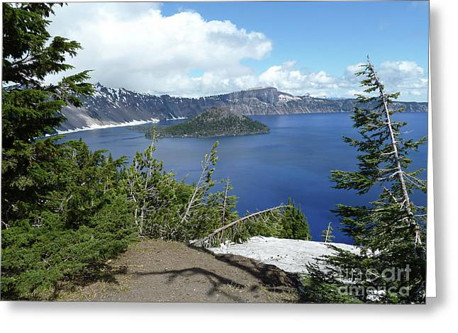 Crater Lake 1 Greeting Card by Methune Hively