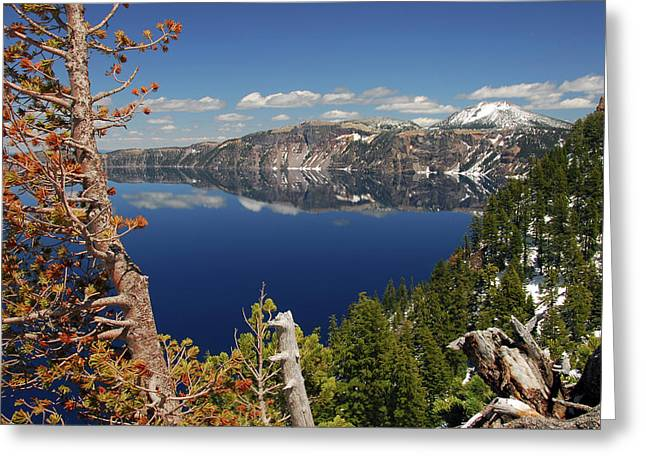 Crater Lake From The Rim, Crater Lake Greeting Card
