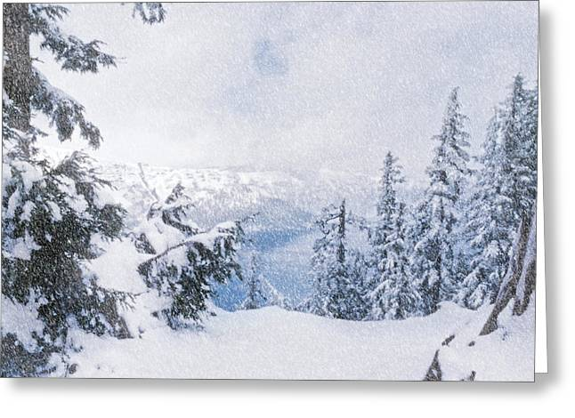 Crater Lake National Park In June Greeting Card by Diane Schuster